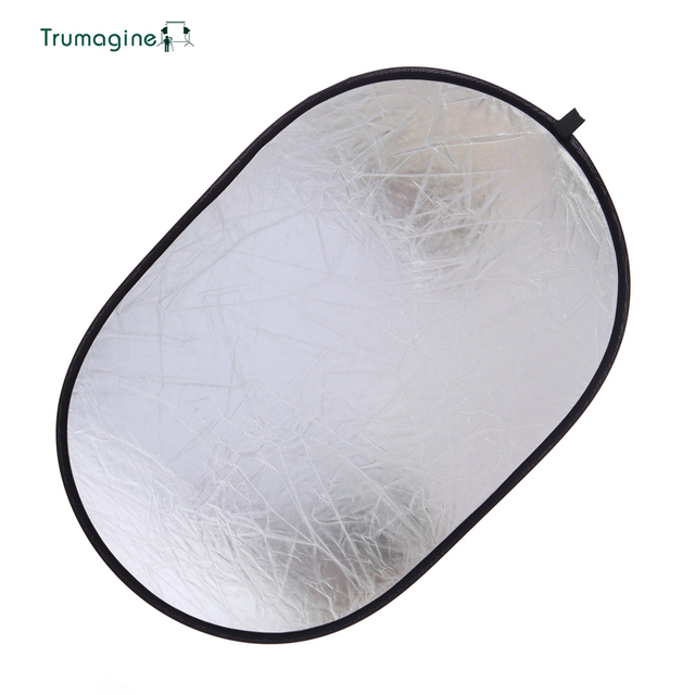 90*120CM 5 in 1 Portable Foldable Studio Photo Collapsible Multi-Disc Light Photographic Lighting Reflector with Carrying Bag 2