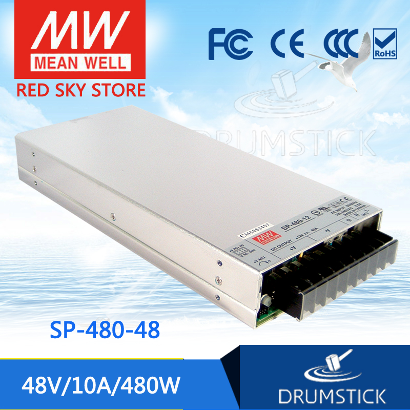 цена на Selling Hot MEAN WELL SP-480-48 48V 10A meanwell SP-480 48V 480W Single Output with PFC Function Power Supply
