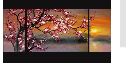 Japanese Cherry Blossom Painting Abstract Art On Canvas(no Framed)
