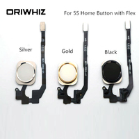 20PCS New Arrival Real Picture High Quality Home Button with Flex for iPhone 5S Silver Gold Black