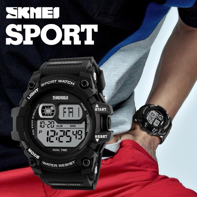 fa8fc8375471 Nuevos relojes digitales Led de marca SKMEI para hombre reloj deportivo al  aire libre 50 M resistente a golpes agua pulsera militar 1229