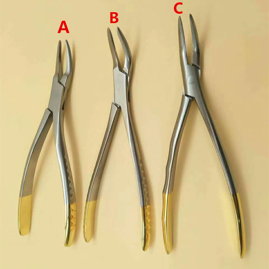 Dental for root fragment minimally invasive tooth extraction forcep toothdental instrument Curved palmetto moon