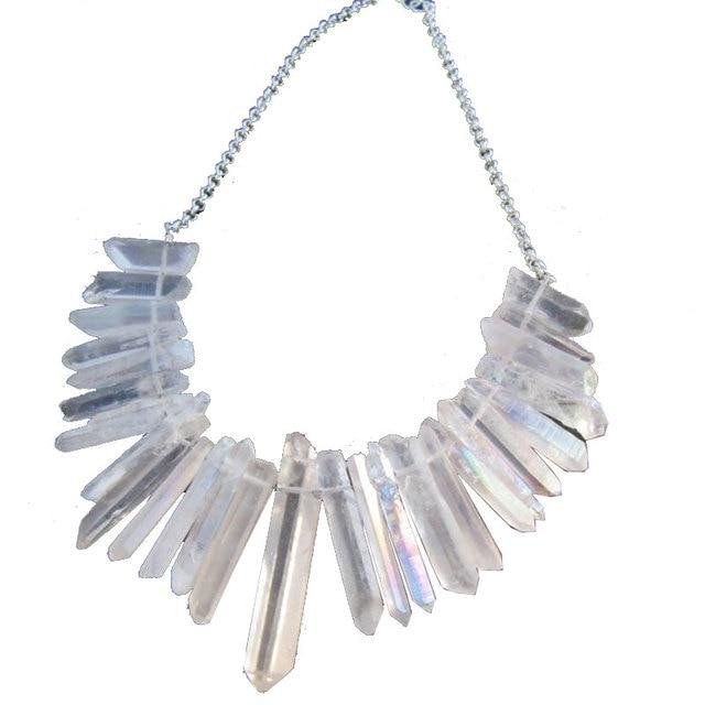 Raw crystal point necklace crystal bib statement necklace raw quartz raw crystal point necklace crystal bib statement necklace raw quartz necklace healing crystal necklaces bohemian beach aloadofball Gallery