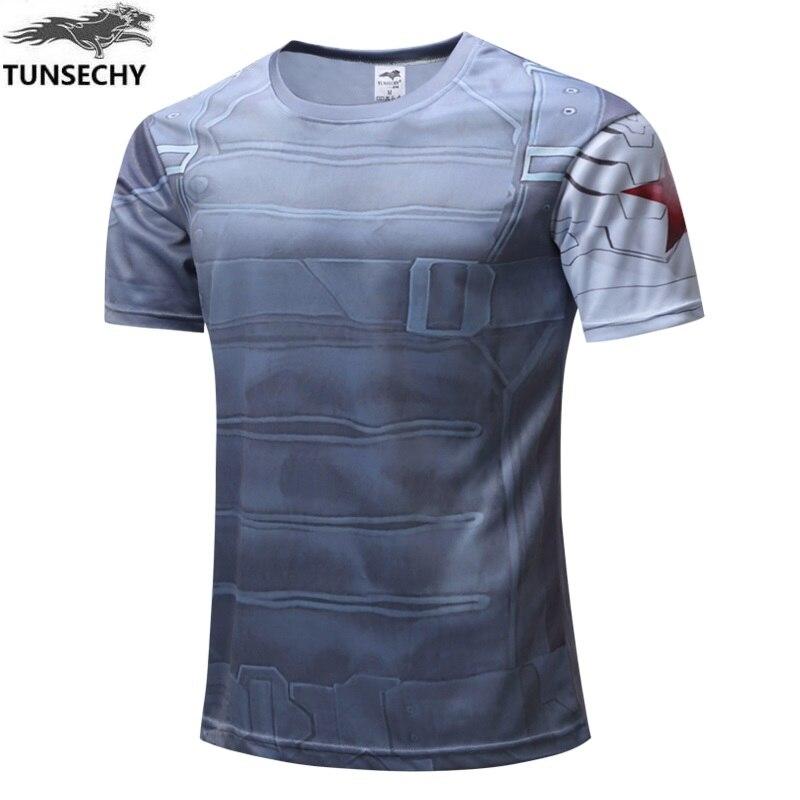 Compression superman batman hulk  fitness men t-shirts 3d printing men t shirt high quality punisher men t shirts