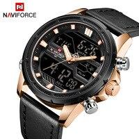 NAVIFORCE Top Luxury Brand Stainless Steel Quartz Watch Men Clock LED Digital Army Military Sport Wristwatch relogio