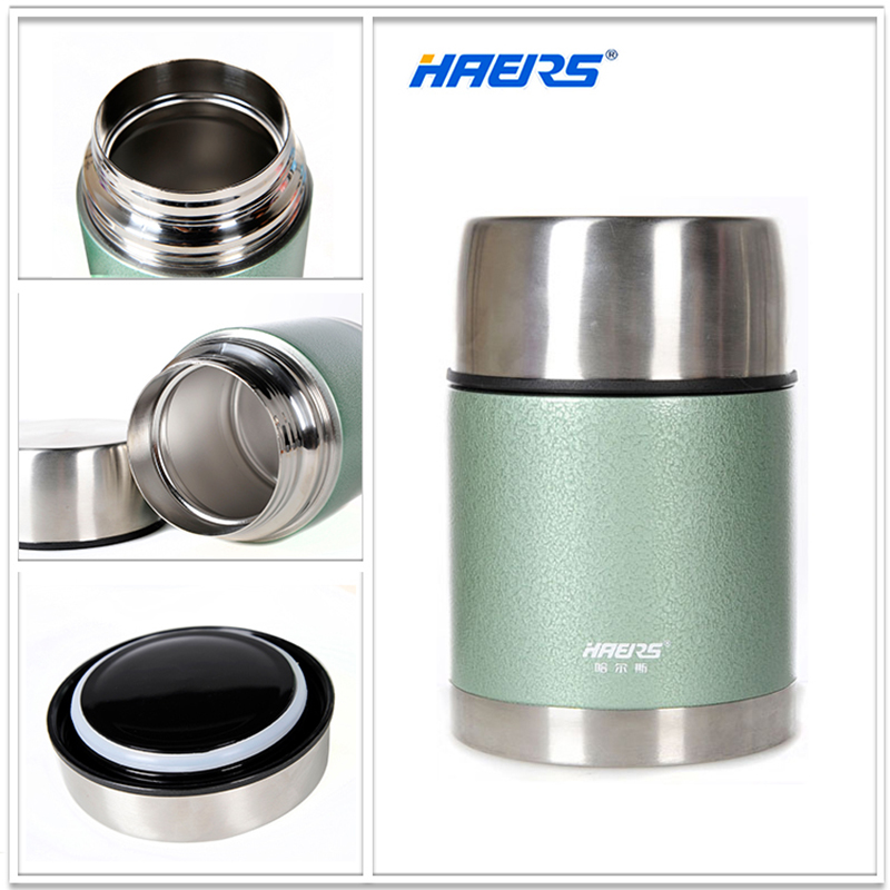 Haers 700ml Thermal Insulated Food Jar With Wide Mouth BPA Free Food Grade 18 8 Stainless