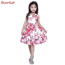 Seartist Baby Girls Dress Floral Summer Princess Birthday Party Vestido Dresses for Wedding Kids Baby Girl Clothes 2T-12T 30 new summer dress sequined flowers bow kids dresses for girls clothes solid birthday party robe princess dress wedding vestido