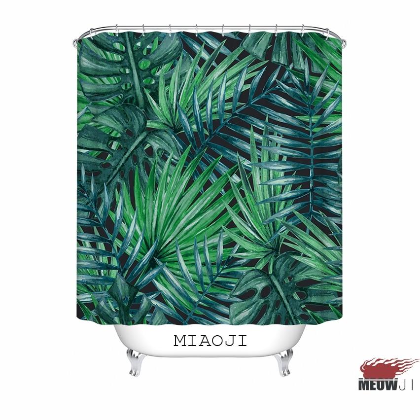 [MIAOJI] LOST IN JUNGLE Botanikus kert Zöld levelek Fabric - Háztartási árucikkek