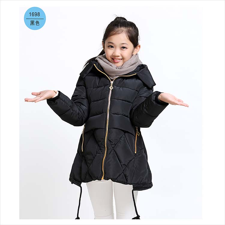 ФОТО 3-8 Years Girls Winter Jackets Long Sleeve Heavy Warm Clothing Coat For Girl High Quality Children's Fashion Hooded Outwear