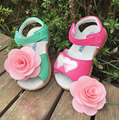 create children sandals girls sandals cute flower princess summer sandals kids sandals genuine leanther breathable girls shoes