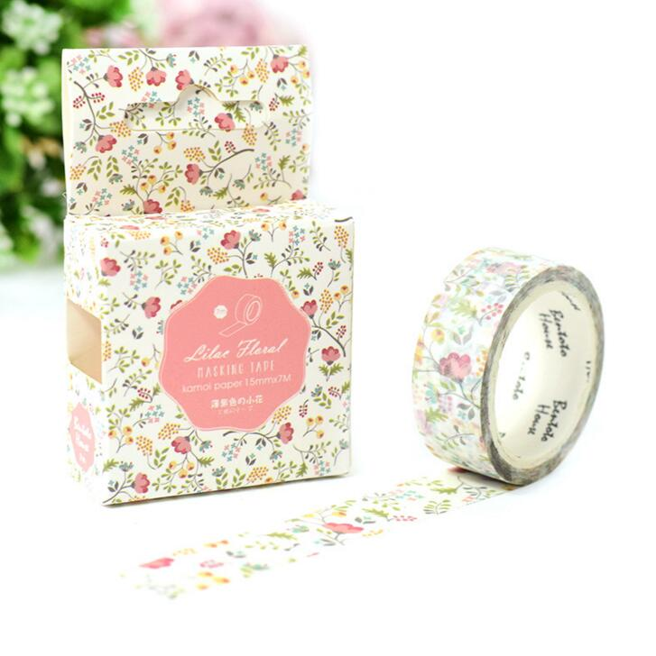 JA206 Colorful Season of Flowers Decorative Washi Tape DIY Scrapbooking Masking Tape School Office Supply Escolar Papelaria 1 5cm 5m star twigs gold silver washi tape diy scrapbooking masking tape school office supply escolar papelaria