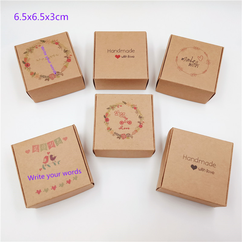 Image 4 - Wholesale 50pcs Kraft Paper Box Transparent PVC Window Soap Boxes Jewelry Gift Packaging Box Wedding Favors Candy BoxGift Bags & Wrapping Supplies   -