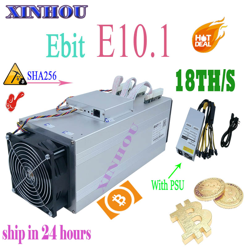 Nouveau BTC BCH Mineur L'ebit E10.1 18T SHA256 Asic Avec PSU Mieux que E9i E9 + Antminer S9 S9k T9 S11 R4 Z11 Z9 WhatsMiner M3 T2T A9