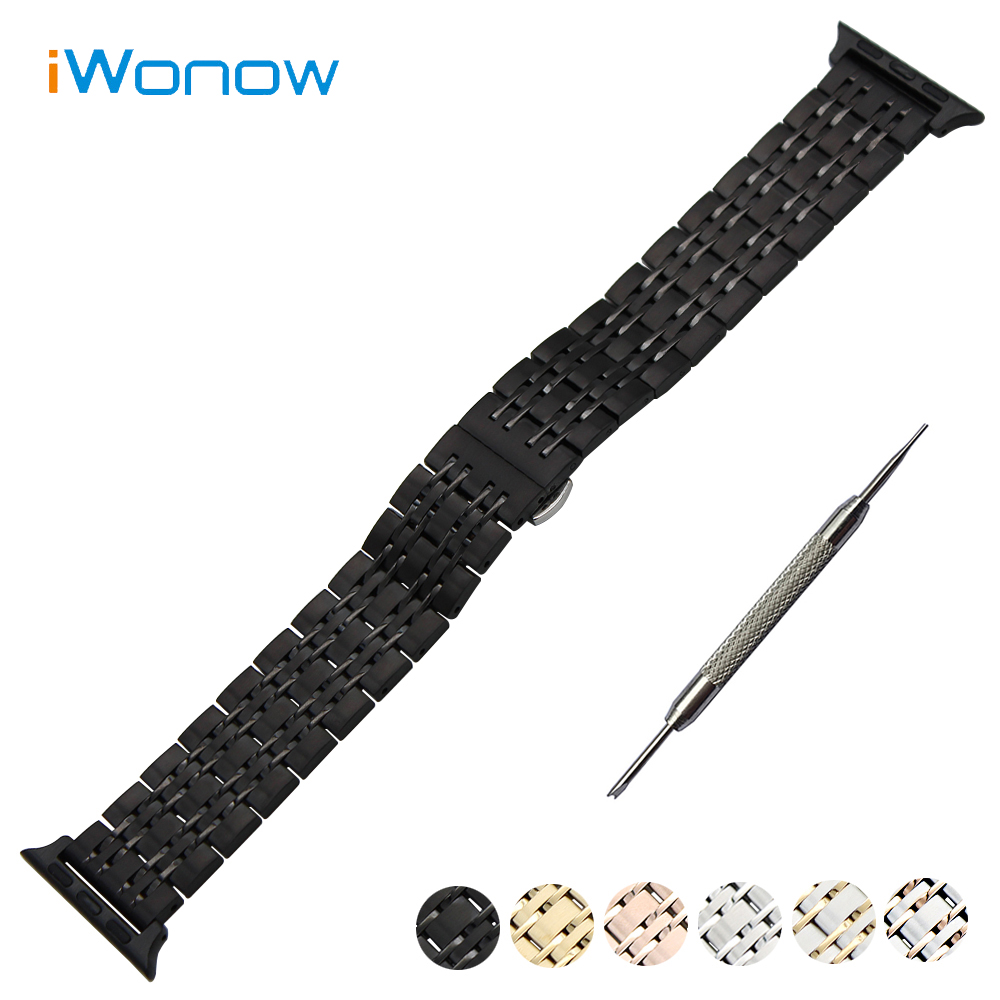 9 Pointer Stainless Steel Watchband for 38mm 42mm iWatch Apple Watch Sport Edition Wrist Band Link Strap Bracelet + Adapters stainless steel band bracelet wrist strap for 38mm 42mm iwatch apple watch sport edition with adapter