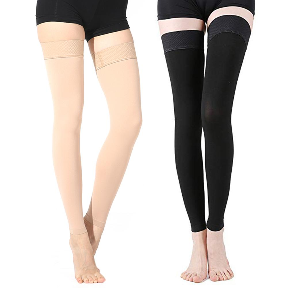 Thigh High Compression Stockings Sleeve Medical Support Hose Opaque Treatment Swelling Varicose Veins Edema Anti- Fatigue Socks