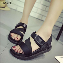 2018 New Korean version of the women s Roman fish mouth women sandals Word  buckle sandals( 1dd7a0f0b550