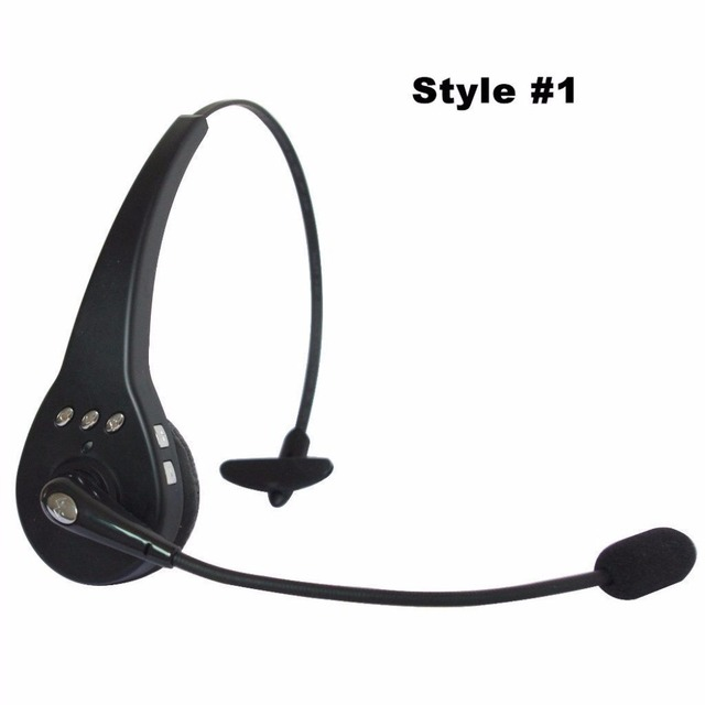 7fa26633d09 Mono Hands-Free Over the head boom mic Wireless Bluetooth headset Recording  Headphone for cell phone trucker driver