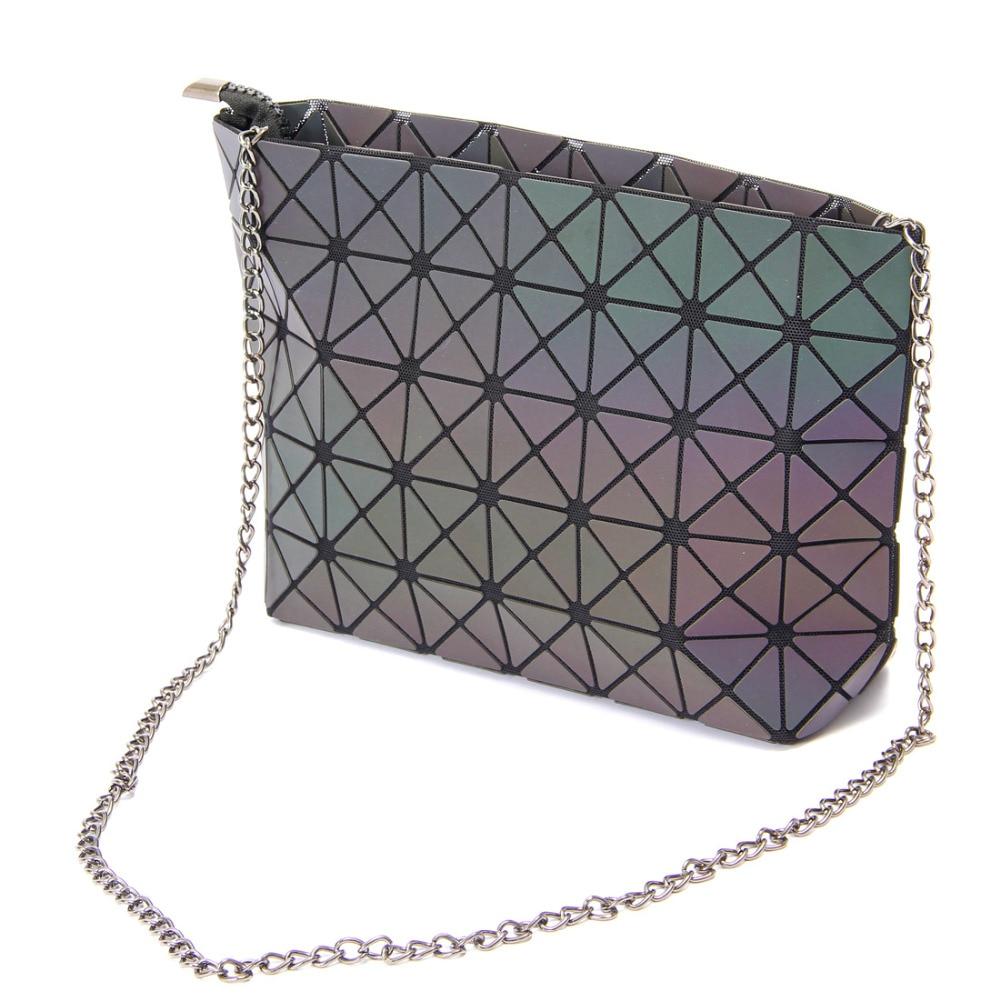 New Designer Bao Bao bag Women Luminous Sac baobao Bag Tote Geometry Quilted Shoulder Bags Laser Plain Folding Chain Bags