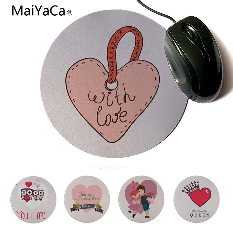 MaiYaCa Personalized Cool Fashion ove For My Sweet Gamer Speed Mice Retail Small Rubber Mousepad 20x20cm 22x22cm Round Mouse Pad