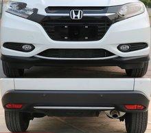 цена на ABS Chrome front bumper trim cover accessories 2pcs For 2015 2016 2017 honda HRV HR-V Vezel car styling