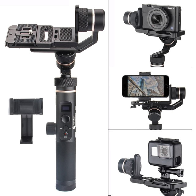 US $269 0 |Feiyu G6 Plus 3 Axis Splash proof WIFI Handheld Gimbal for Gopro  Xiaomi SJCAM Sony RX0 RX100 A6300 A6500 Canon EOS M50 M6 M5 -in Handheld