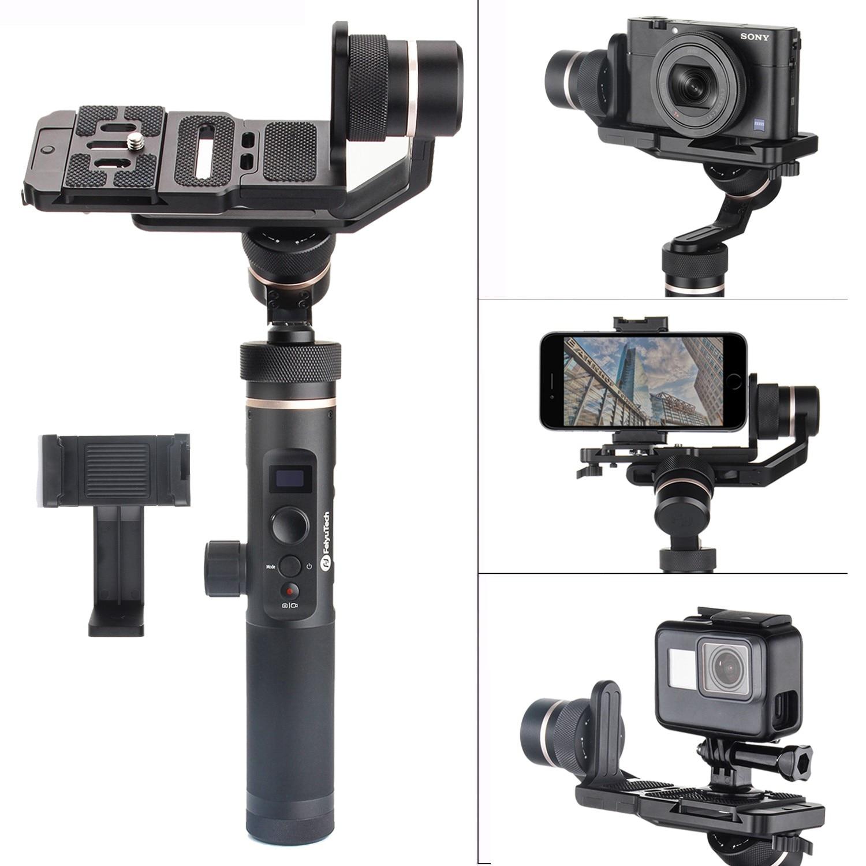 Feiyu G6 Plus cardan de poche WIFI étanche aux éclaboussures 3 axes pour Gopro Xiaomi SJCAM Sony RX0 RX100 A6300 A6500 Canon EOS M50 M6 M5