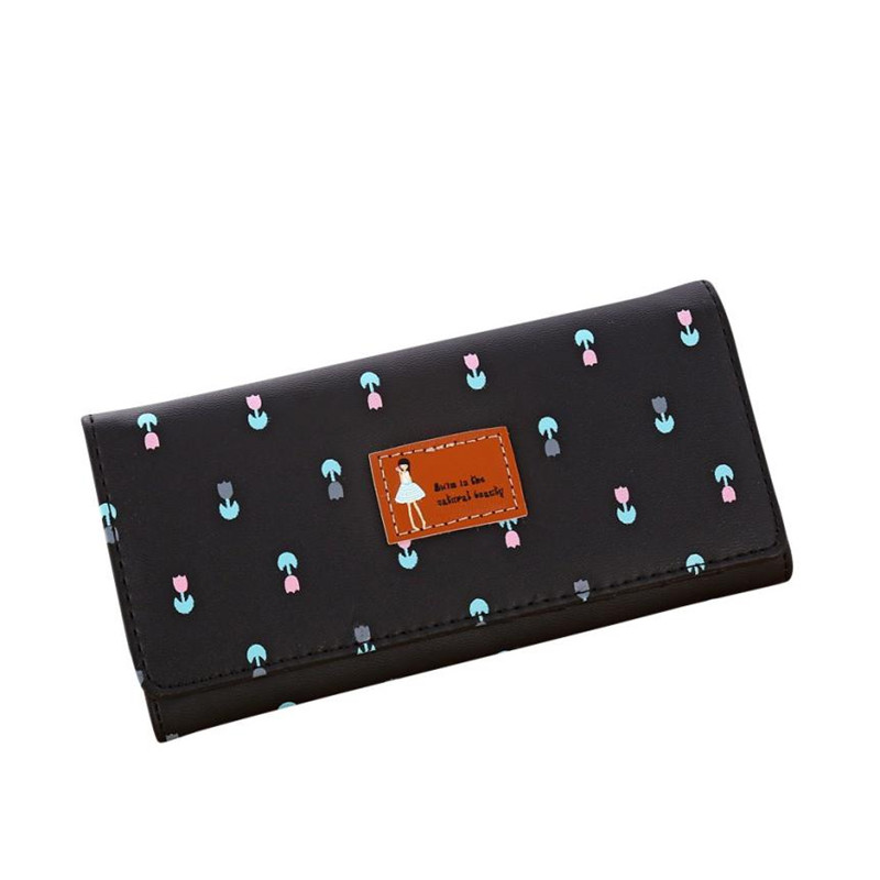 1PC Women Floral girls flower Envelope Pattern Coin Purse Long Wallet Card Holders Hand  ...