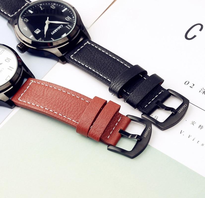 2017 CAGARNY Mote Hot Herreklokker Topp Merker Luksus Leather Vintage - Herreklokker - Bilde 6
