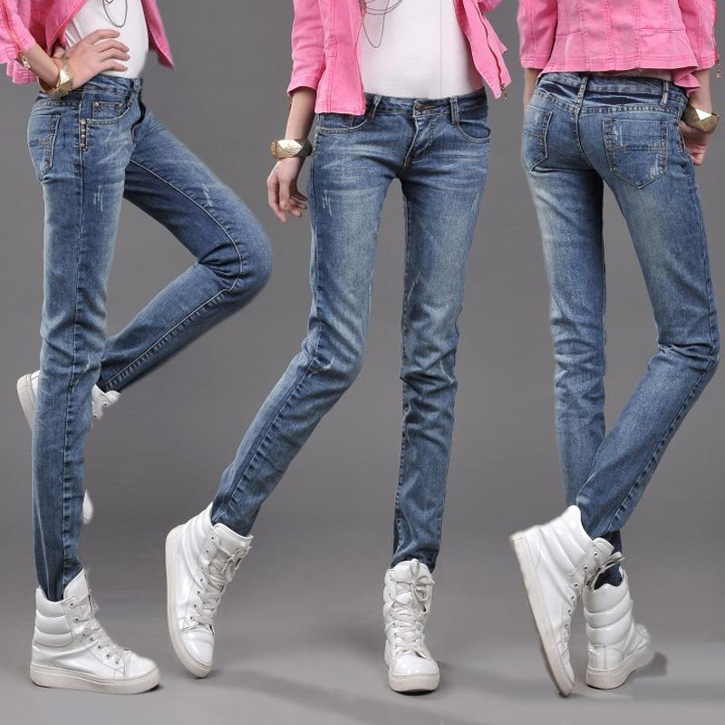 1e1df9786b3 jeans female Korean retro small straight thin pencil pants pants tight  pants feet trousers tide cheap clothes china women hot