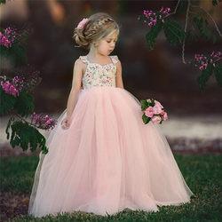 Mini vestido rendado menina princesa, vestido de princesa sem mangas para aniversário crianças presentes