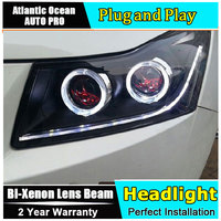 Auto Pro Car Styling For Chevrolet Cruze LED Headlights Signal Angel Eye DRL Lens Double Beam