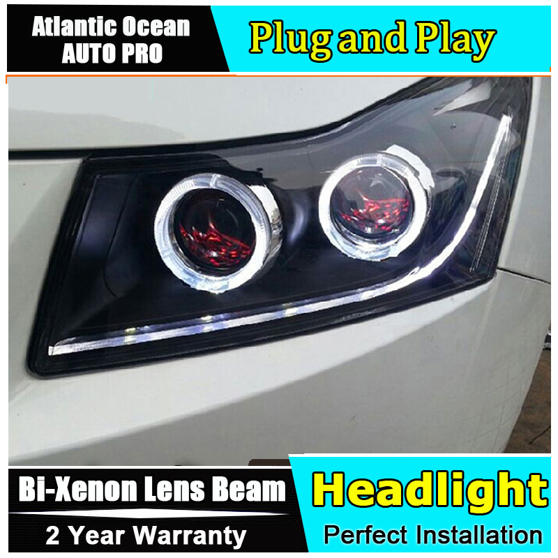 Auto.Pro Car Styling for Chevrolet Cruze LED Headlights Signal Angel Eye DRL Lens Double Beam HID KIT Xenon bi xenon lens car styling for chevrolet trax led headlights for trax head lamp angel eye led front light bi xenon lens xenon hid kit