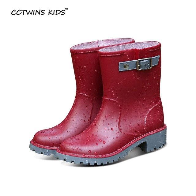 CCTWINS ДЕТИ весна осень зима дети мода водонепроницаемый дождь загрузки для ребенка девушка пвх обувь мальчик бренд веллингтон загрузки синий