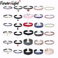 30 Pcs/lot Vintage Lace Choker Necklace Women Fashion Minimalist Gothic Velvet Ribbon Chokers Necklaces Set Jewelry RBZ142