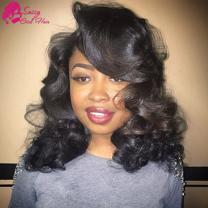 Sassy Girl Hair Peruvian Loose Wave With Closure Unprocessed Cheap Peruvian Hair With Closure Bundle Wet And Wavy With Closure
