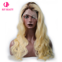 Hot Beauty Hair T4 613 Blonde Color 18 24 Inch Brazilian Body Wave Remy Hair Full