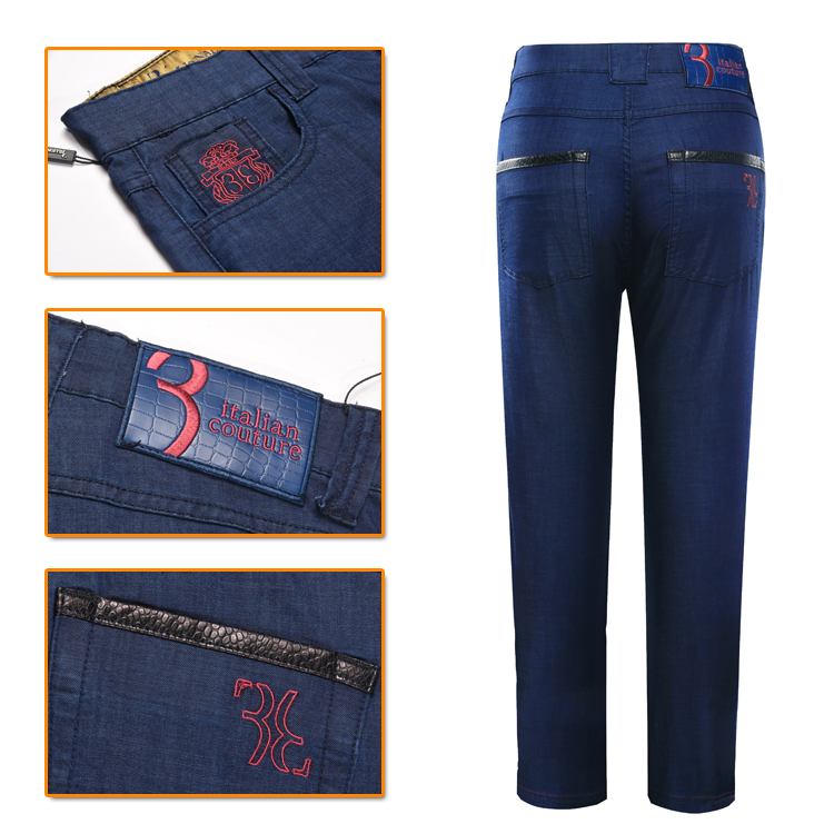 Billionaire TACE&SHARK jeans men 2018 launching commerce comfort embroidery designed male trouser free shipping Small one size