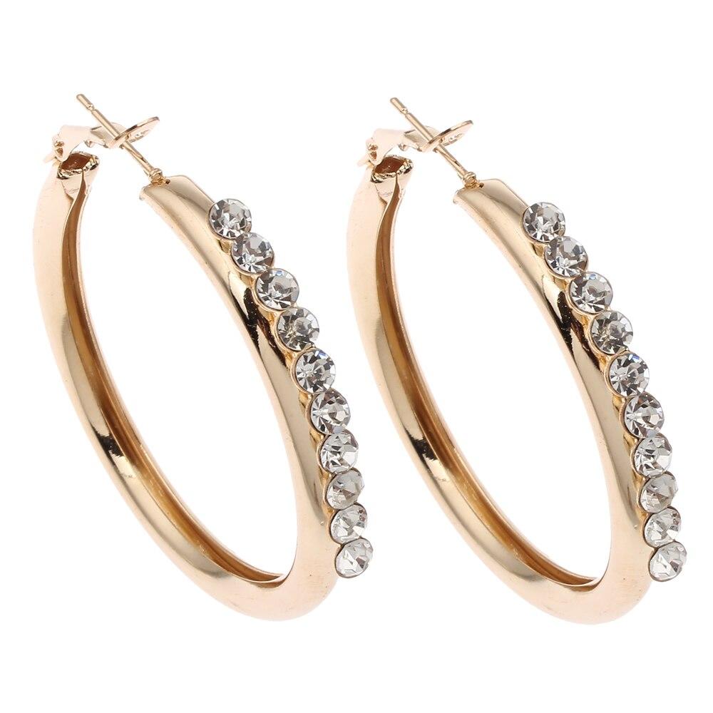 562db44c3e7d1 2017 Laço Cor de Ouro Brincos de Argola CZ diamantes presente Elegante  design de jóias de alta qualidade brinco bijoux boucle d oreille