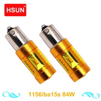 HSUN 2pcs High Power Led Canbus Led BA15S BAU15S BAY15D H4 H7 9005 9006 H8 H11