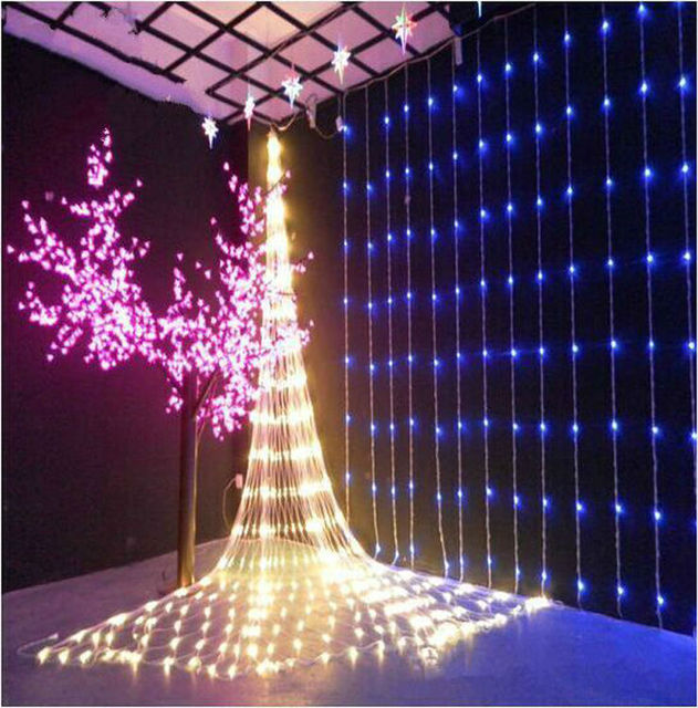 Fairy 3m x 3m 320 LED Waterfall Christmas lights new year holiday party  wedding Home luminaria - Fairy 3m X 3m 320 LED Waterfall Christmas Lights New Year Holiday