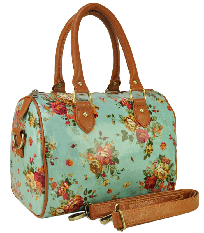 Oilcloth Bags Women Handbags Wild Flowers Print Design Tote Bag S Shoulder Travel Qq1837 In Top Handle From Luggage On