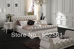2017 new diamond tufted contemporary king size modern genuine leather leisure bed made in china bedroom.jpg 250x250