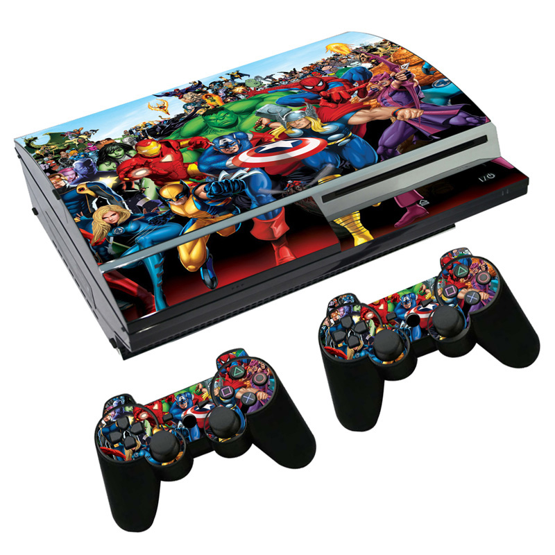 Game Decal Skin For PS3 Fat Console + 2 Pcs Stickers Controller