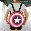Backpack fashion Captain America Shield backpack 2017 preppy style students leather backpack women circle school bag