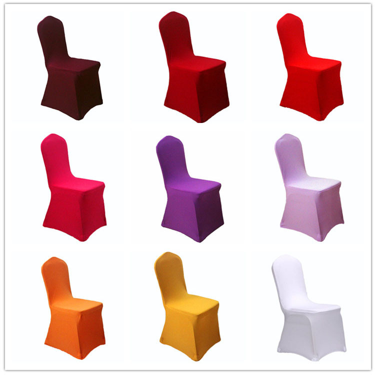 wholesale hotel wedding chair cover pure white elastic thick dining sofa coverings high end banquet