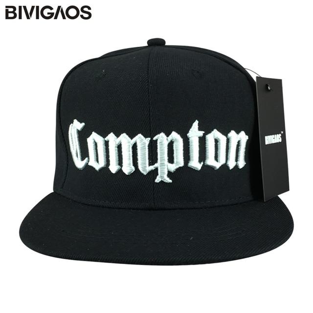 BIVIGAOS Snapback Casquettes Chapeu Masculino Touca Snap Back COMPTON  Cappelli Hip Hop Baseball Caps Gorras Beisbol