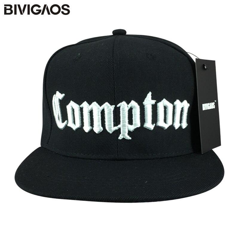 BIVIGAOS Snapback Casquettes Chapeu Masculino Touca Snap Back COMPTON Cappelli Hip Hop   Baseball     Caps   Gorras Beisbol Cappelli Hat