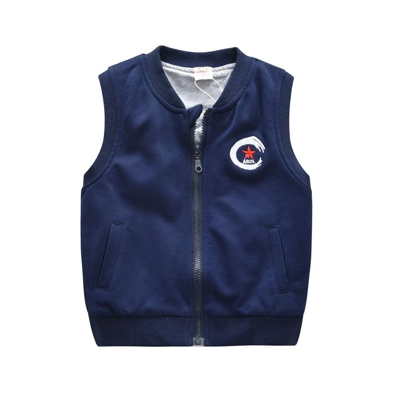 28b4778657d0 Boys Girls Cotton Vest Children Sleeveless Waistcoat 2018 Fall ...