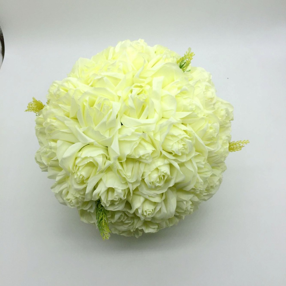 3 Layers Dia 25cm Rose And Lily Flowers Ball For Weedding Decoration