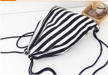 10 Pieces/lot Canvas Drawstring Bag Women men Backpack 3d Printed Girls boys Children Shoulder Bags Travel Sac Pouch